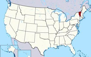 vermont on us state map image